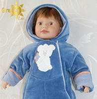 Велюровый детский комбинезон для мальчика Тедди