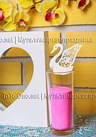 Декор на бокалы, резное украшение Лебеди, рассадка гостей по именам