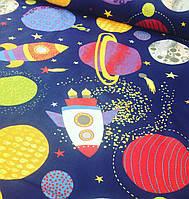 Хлопковая ткань польская космос