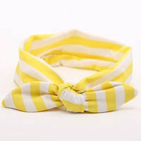 Повязка на голову для девочки солоха Полоска жёлтая