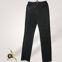 Джинсы женские прямые с высокой посадкой Таллас чёрного цвета