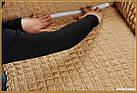 АКЦИЯ! Чехол натяжной на 3-х местный диван MILANO бежевый (Турция), фото 5