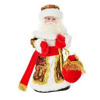 Новогодний сувенир Дед Мороз 30см Красный с узорами