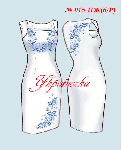 Заготовка плаття жіночого без рукавів №015