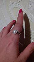 Кольцо 17р из серебра с напайками золота 375 пробы., фото 1