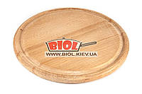 Подставка деревянная 22см (бук) под чугунные порционные сковороды, фото 1