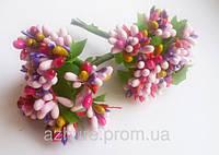 Сложные тычинки комбинированные розовые