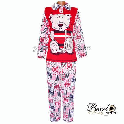 Теплая пижама начесная оптом и в розницу, фото 2