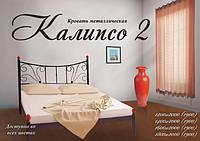 Кровать металлическая двуспальная Калипсо 2 1600х1900/2000 мм, Черный