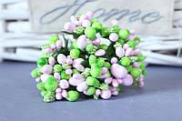 """Добавка """"сложные тычинки крупные микс """" 10-12 шт/уп цвета """"розовый + салатовый"""""""