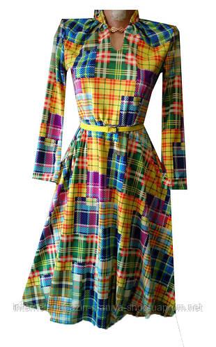 Платье женское клетка