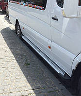 Алюминиевые пороги Х5 подножки Volkswagen Crafter на среднюю базу
