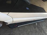 Volkswagen Crafter 2006+ и 2011+ гг. Боковые площадки RedLine V1 (2 шт., алюминий) Средняя база