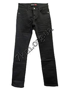 Джинсы для мальчика на флисе 26-31 рр. черные Китай 2851