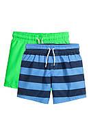 Детские пляжные шорты для мальчика (2 шт)  1,5-2 года