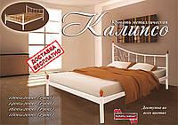 Кровать металлическая двуспальная Калипсо Без изножья, 1600х1900/2000 мм, Черный