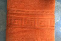 Плед из микрофибры Версаче оранжевый