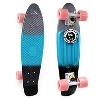 Пенни Борд Fish «Gradient» 22″ Розовые Колеса / пенниборд скейт (penny board), скейтборд с рисунком