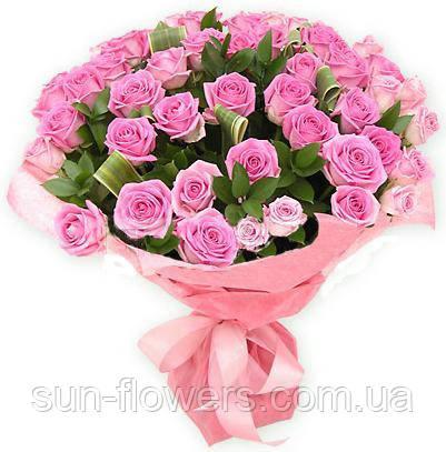 Букет 51 розовых роз