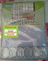 Шторка для ванной комнаты Shower curtain 1, однотонная голубая