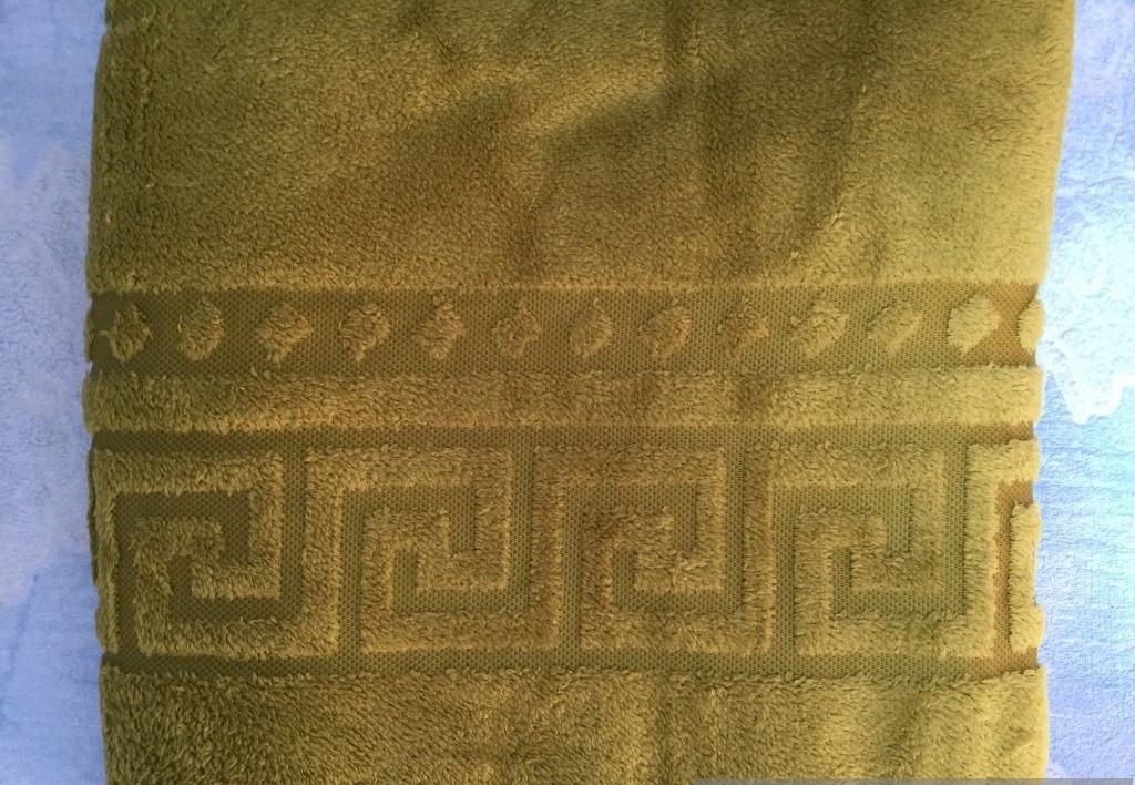 Плед из микрофибры Версаче оливковый