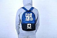 Городской рюкзак Converse темно-синий с черным с черным