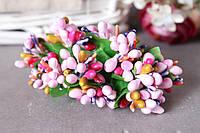 """Добавка """"сложные тычинки микс """" 10-12 шт/уп цвета """"розовый + малина +фиолет +горчица"""", фото 1"""