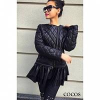 Куртка женская стёганная черная Лола, магазин курток