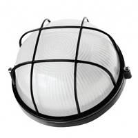 Светильник НПП1302 черный круг 60Вт IP54