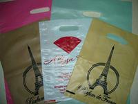 Цветные пакеты с прорезной ручкой