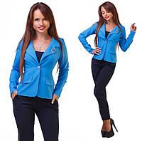 Женский стильный пиджак на одной пуговице БАТАЛ, фото 1