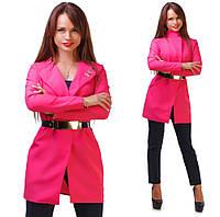 Женский удлиненный пиджак с ремнем Chanel(БАТАЛ)
