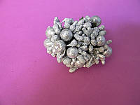 Тычинки с бусинкой - серебро