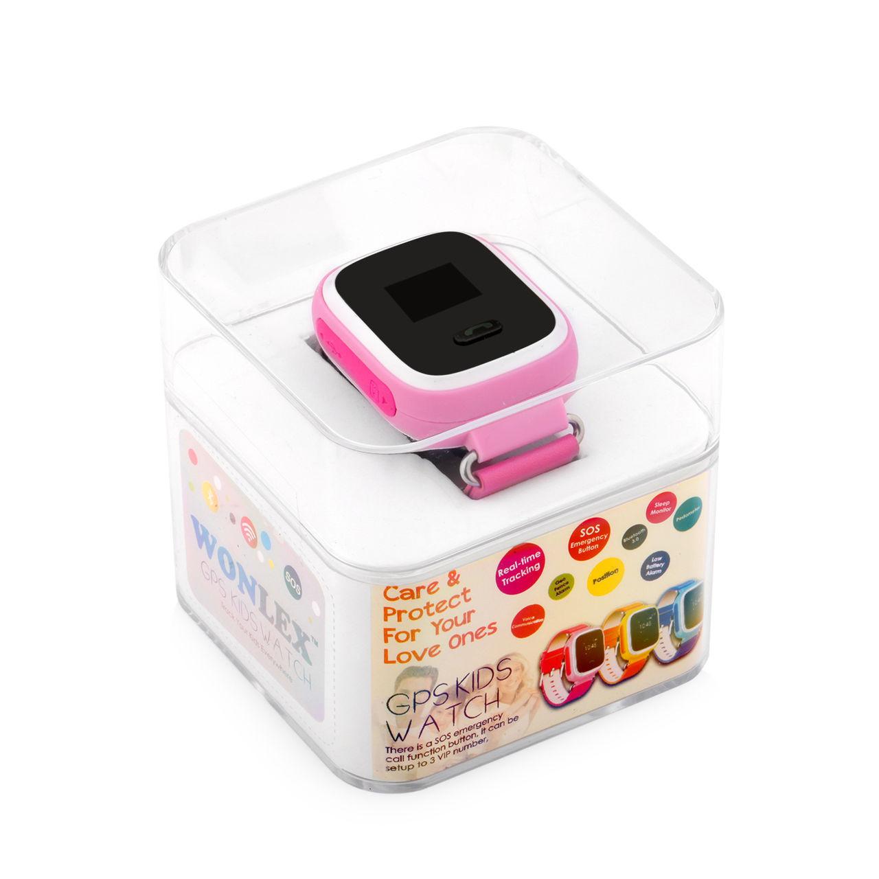 Wonlex Сенсорные детские умные часы оригинал с GPS Smart Baby Watch Q100  ВИБРО и настройка в подарок ec3b189709eca