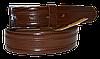 Ремень мужской классический, классическая пряжка, коричневый