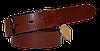 Ремень мужской классический с классической пряжкой, коричневый