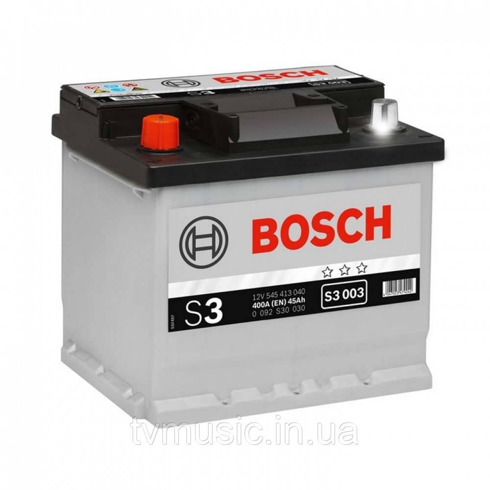 Аккумулятор Bosch S3 003 Silver 45Ah 12V (0092S30030)