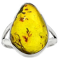 """Серебряный перстень   с натуральным янтарем """"Эра"""", размер 17,9 от студии  LadyStyle.Biz"""