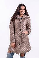 Куртка женская с капюшоном, ткань плащевка, Синтепон 200 ,Черный электрик беж темно-синий естил №563