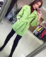 Женское кашемировое пальто Спайс короткое