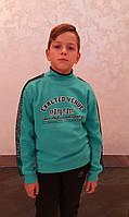 Толстовка на байке для мальчиков Бирюза размеры: 128,140,164