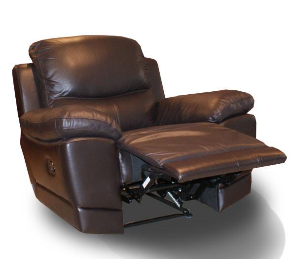 Кожаное кресло с реклайнером Montana (110 см)