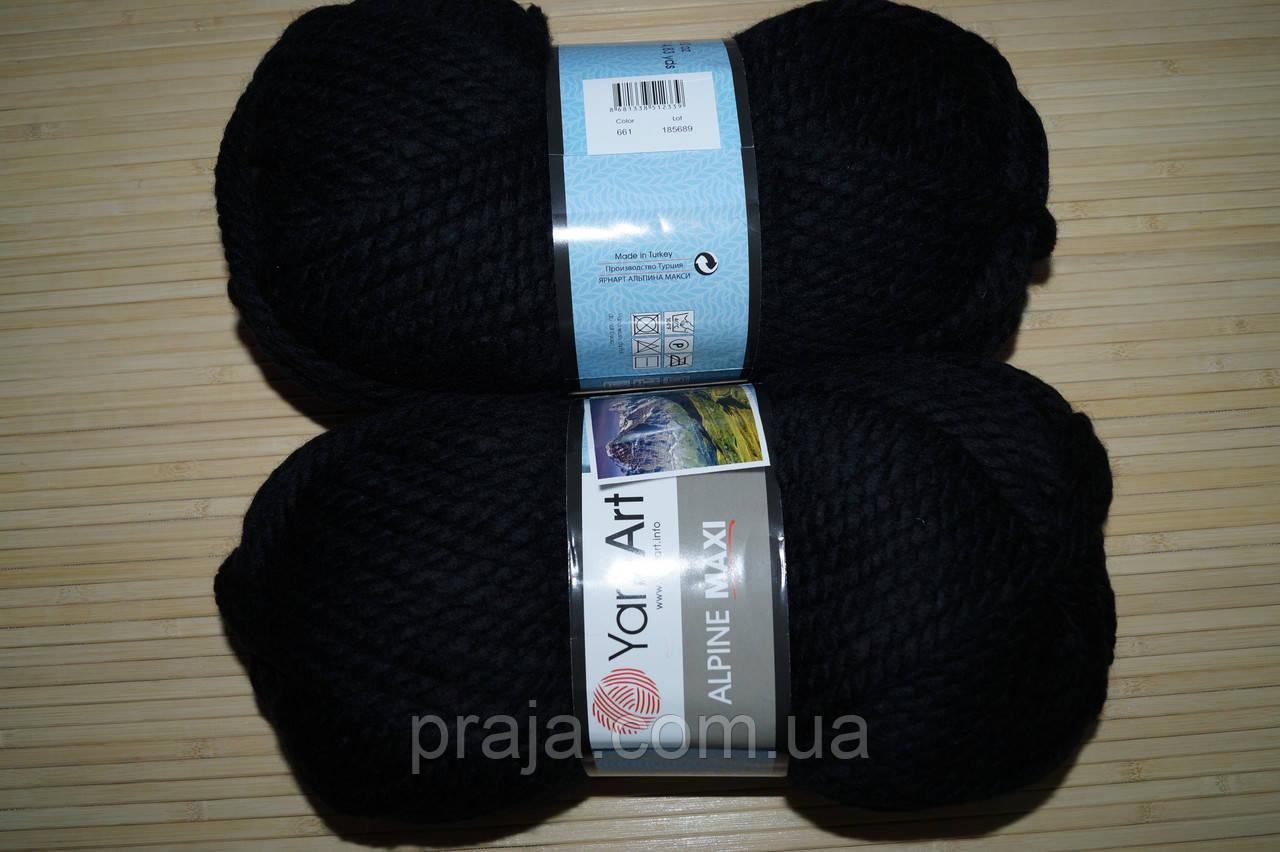 Yarnart Alpine Maxi 661 чорний