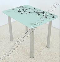 Кухонный стол Maxi Dt r 900/650 (1) белый с рисунком