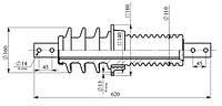 Изолятор ИПУ-10/630-7,5 УХЛ1 (квадратный фланец)