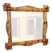 Зеркало из натурального дерева - сосна ручной работы
