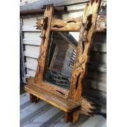 Зеркало под старину из натурального дерева от производителя