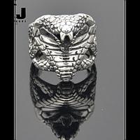 Кольцо мужское из стали. Египетский стиль. Змея