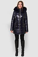 Зимняя куртка с мехом на на капюшоне 81119