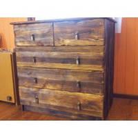 Деревянный комод под старину из массива сосны ручной работы